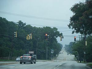 Route 261 (Delaware–Pennsylvania) - DE 261 northbound at Shipley Road