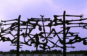 Dachau Memorial (iron sculpture)