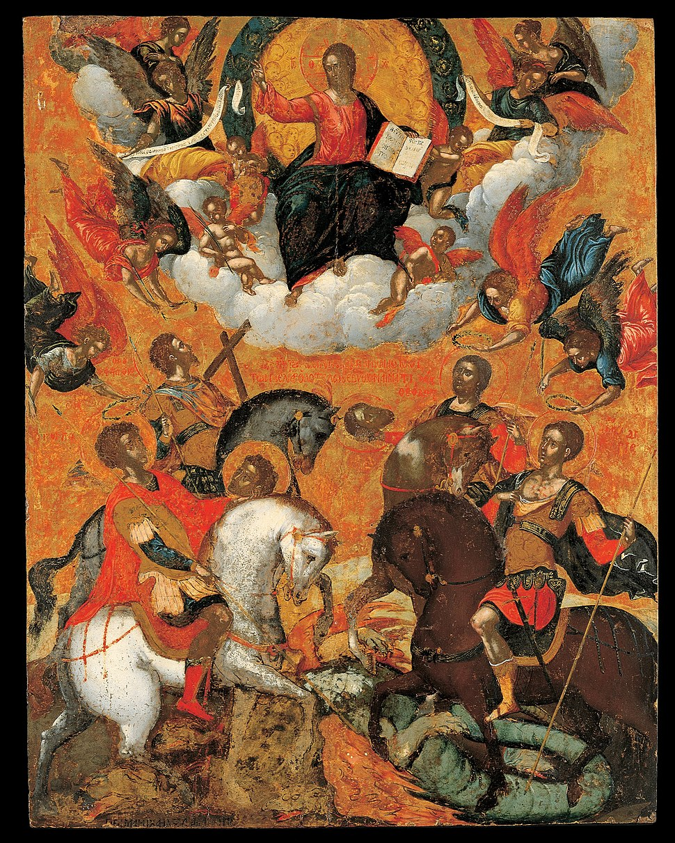Damaskenos Michael - Four military saints - Google Art Project