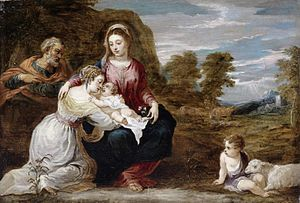 Holy Family with St Elizabeth and St John as infant