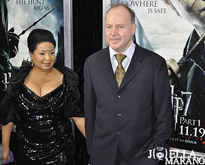 David Yates - David Yates with his wife, Yvonne Walcott, at the premiere of Harry Potter and the Deathly Hallows – Part 1 in New York City on 15 November 2010.