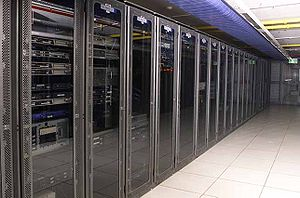 English: Racks of managed servers