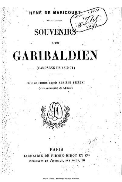 File:De Maricourt - Souvenirs d'un garibaldien.djvu
