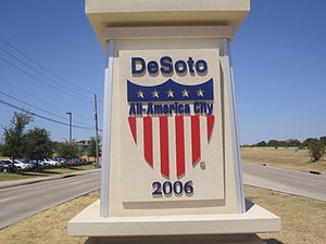 "DeSoto, Texas - DeSoto was named an ""All America City"" in 2006"