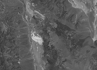 Dante's View - Dante's View and Badwater from space Landsat