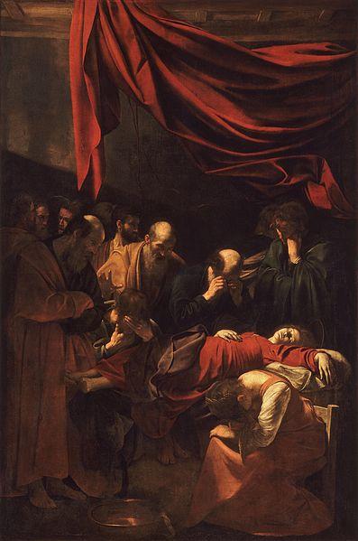 Archivo: Muerte de la Virgen de Caravaggio (1606) jpg.