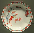 Decagonal Plate with Bird on a Branch, c. 1690-1700, Arita, hard-paste porcelain with overglaze enamels - Gardiner Museum, Toronto - DSC00574.JPG