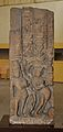 Decorative Door Pillar Showing Ganga on Crocodile - Mediaeval Period - Bharna Khurd - ACCN 16-1205 - Government Museum - Mathura 2013-02-23 5211.JPG