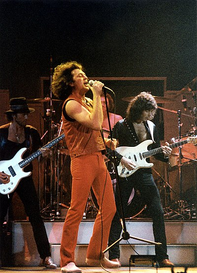 Deep Purple at the Cow Palace, Glover, Gillan, Paice, and Blackmore (San Francisco, California. January 1985) Deep Purple (1985).jpg