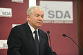 Defense.gov News Photo 110610-D-XH843-002 - Secretary of Defense Robert M. Gates addresses the audience during a Security and Defense Agenda event at the Biblioteque Solvay in Brussels.jpg