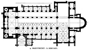Basilica of Saint Servatius - Church plan (without cloisters)