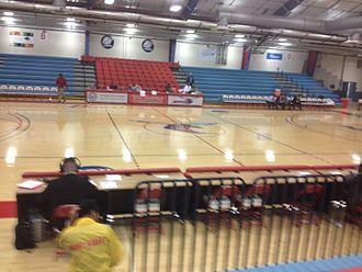 Memorial Hall (Delaware State) - Memorial Hall prior to a 2015 men's basketball game between Lamar and Delaware State