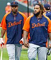 Delmon Young and Prince Fielder on July 13, 2012.jpg