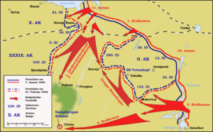 Demyansk Pocket - Offensive of the Red Army south of Lake Ilmen  7 January–21 February 1942.