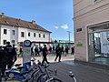 Demonstration in Krems (Donau), next to station, img 2.jpg
