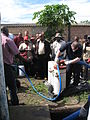 "Demonstration of pumping faecal sludge from a ""wet"" VIP pit (8151991603).jpg"