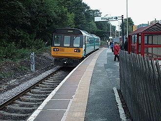 Denby Dale railway station - The platform