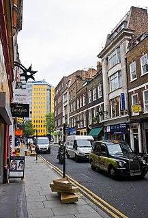 Denmark Street street in London associated with British popular music