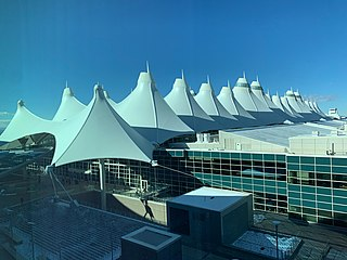 Denver International Airport Largest and busiest airport in the U.S. state of Colorado