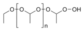 Ether - Structure of the polymeric diethyl ether peroxide