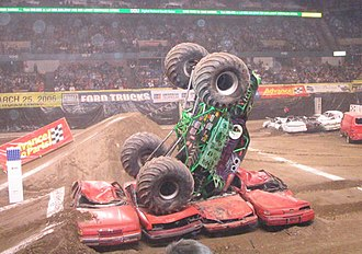 Grave Digger (truck) - Grave Digger is well known for its gnarly crashes.