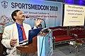 Dileep Basumazumder Talking in Memory of Deceased Kalyan Mukherjee - SPORTSMEDCON 2019 - SSKM Hospital - Kolkata 2019-03-17 3718 3891.JPG
