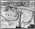 Dissegno di Barcan dirimpeto a Strigonia preso et abbrvcciato col ponte di Barche dal Generale Conte di Sovches il de primo d'Agosto 1664 LCCN2016645792.jpg