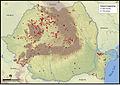 Distribution of zamenis longissimus in romania.jpg