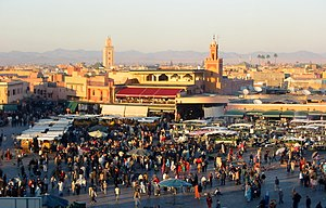 Djemaa el Fna, evening.JPG