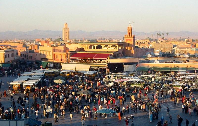 Salir por la noche en Marrakech