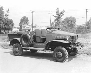Dodge WC series - Dodge WC4 open cab with winch