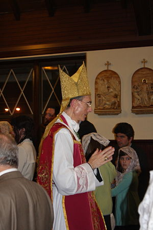 Bernard Tissier de Mallerais - de Mallerais at a confirmation in 2008