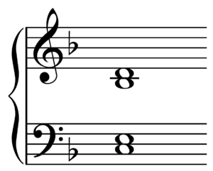 Fifth (chord) - Image: Dominant ninth chord on C 4 voice