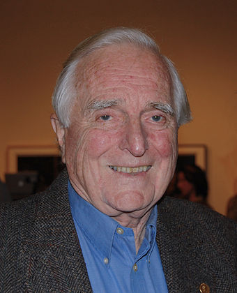The computer mouse was invented by Turing Award laureate Doug Engelbart, B. Eng. 1952, Ph.D. 1955 Douglas Engelbart in 2008.jpg
