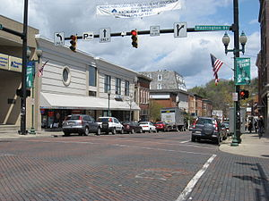 Athens County, Ohio - Image: Downtown Athens OH USA