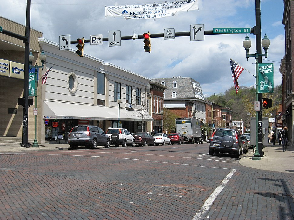 Downtown Athens OH USA
