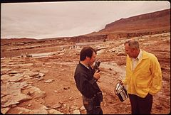 Dr. George Rice (In Yellow Jacket) Was EPA's On - Scene Coordinator for the Clean - Up of the San Juan River Oil Spill, 10-1972 (3814162653).jpg