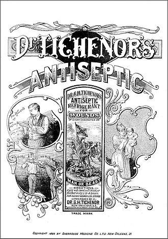 George H. Tichenor - 1895 advertisement for Dr. Tichenor's Antiseptic