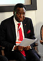 Dr Babatunde Osotimehin, Executive Director of the UNFPA takes part in the panel discussion on the view from the agencies (10840063174).jpg