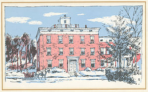 Susquehanna University - Drawing of the Missionary Institute sister college Susquehanna Female College.