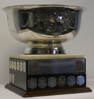 Northern Ontario Junior Hockey League - Dudley Hewitt Cup - Regional Championship, competed for by NOJHL champions since 1979. Won in 1997, 2000, and 2002.