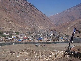 Dunai, Nepal Village of Thuli Bheri Municipality and Hill Station in Karnali Pradesh, Nepal