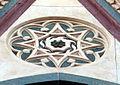 Duomo di firenze, medaglioni intarsiati in marmi nei timpani delle finestre sui fianchi 05,2.jpg