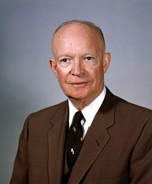 United States presidential election in California, 1956 - Image: Dwight D. Eisenhower, White House photo portrait, February 1959