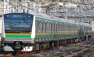 Ueno–Tokyo Line - An E233-3000 series EMU, one of the train types used on the Ueno-Tokyo Line