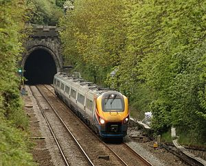 Clay Cross Tunnel - An East Midlands Trains ''Meridian'' service leaving the tunnel