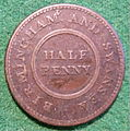 ENGLAND, BIRMINGHAM and SWANSEA -ROSE COPPER COMPANY HALFPENNY TOKEN 1811 a - Flickr - woody1778a.jpg