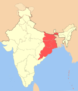 Location of مشرقی بھارتEast India