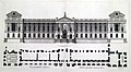 East facade of the Louvre, elevation design by Claude Perrault, engraved by Jean Marot 1676 – Bibliothèque municipale de Valenciennes.jpg