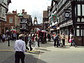 Eastgate clock from ground, Chester 1.JPG